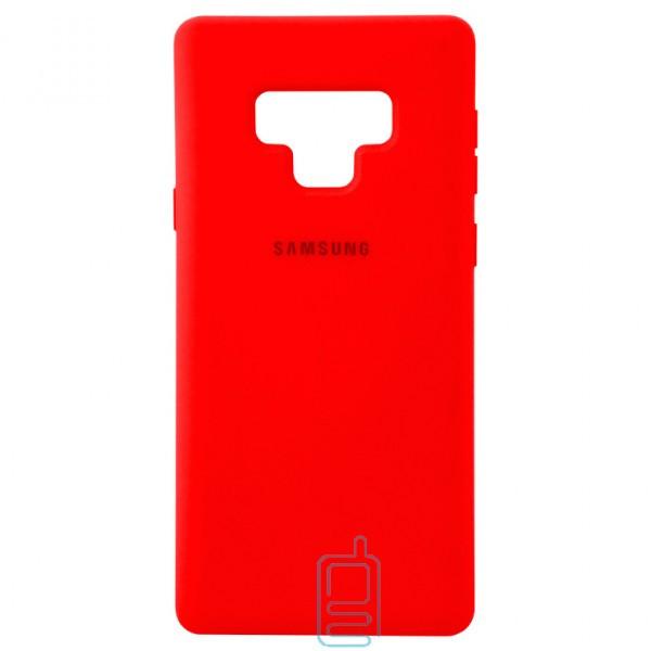 Чехол Silicone Case Full Samsung Note 9 N960 красный