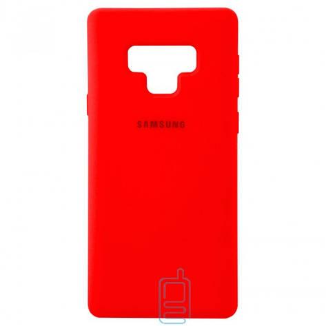 Чехол Silicone Case Full Samsung Note 9 N960 красный, фото 2