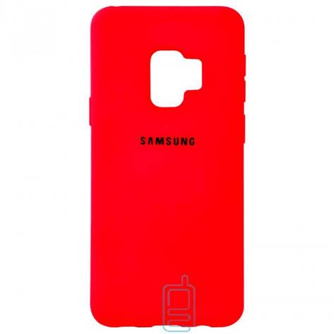 Чехол Silicone Case Full Samsung S9 G960 красный, фото 2