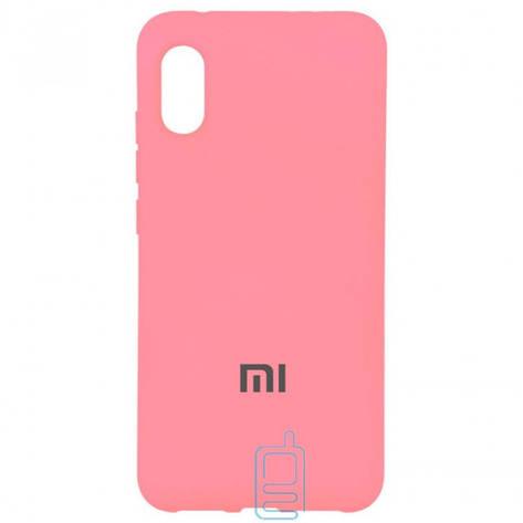 Чехол Silicone Case Full Xiaomi Mi 8 Pro розовый, фото 2