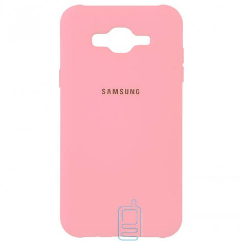 Чехол Silicone Case Full Samsung J5 2015 J500 розовый, фото 2
