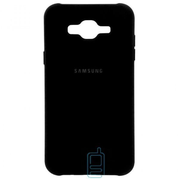 Чехол Silicone Case Full Samsung J7 2015 J700. J7 Neo J701 черный