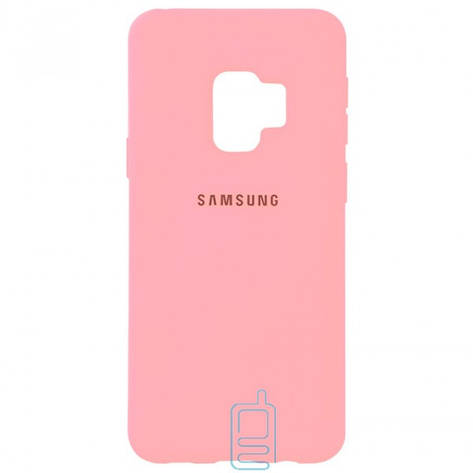 Чехол Silicone Case Full Samsung S9 G960 розовый, фото 2