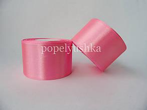 Стрічка атласна 5 см яскраво-рожева