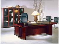 Стол руководителя с кожаной накладкой YDK309