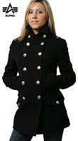 Женское пальто Alpha Industries Ladies Wool Long Pea Coat WJW37100C1 (Black), фото 1