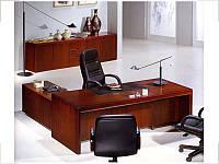 Стол руководителя с кожаной накладкой YDK315