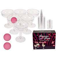 """Питьевая игра """"Party Pong Prosecco"""" 12 бокалов, 3 шара"""