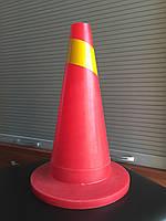 Конус дорожный (парковочный) малый со светоотражательной  полосой Н-35см
