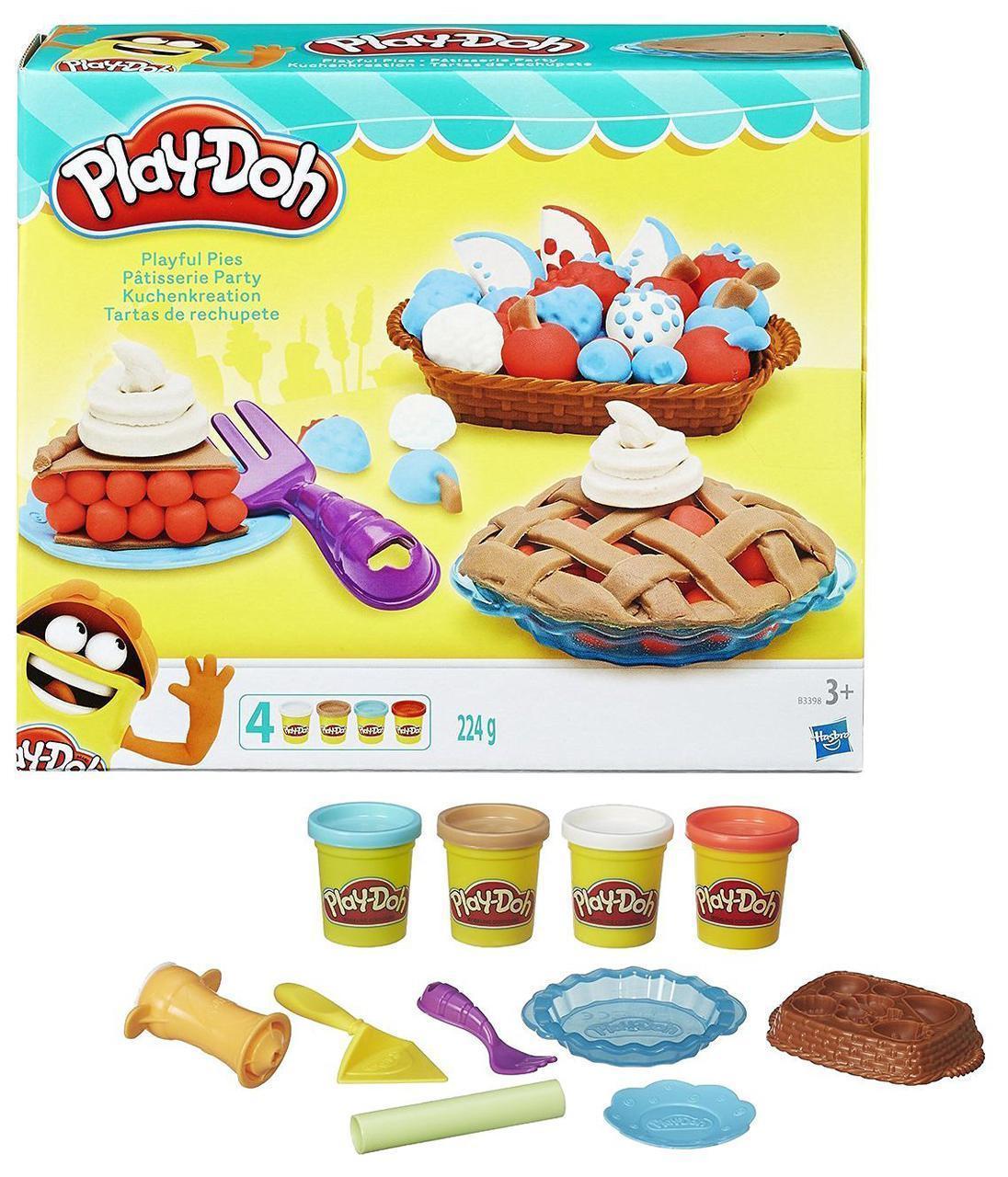 Набор для творчества Плей-До Праздничный пирог ягодные тарталетки Play-Doh Kitchen Creations Playful Pies