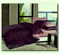 Комплект постельного беля из  сатина Слива и чайная роза,  разные размеры двуспальный
