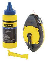 """Шнур разметочный, в корпусе """"PowerWinder"""", флакона пудры и уровень подвесной  STANLEY 0-47-465"""
