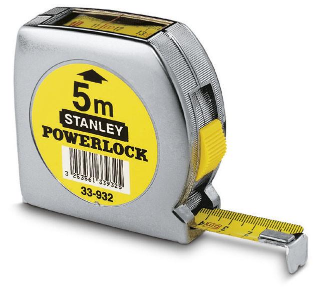 Рулетка   5м х 19мм Powerlock с окном сверху  STANLEY 0-33-932