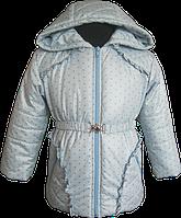 Голубенькая куртка на синтепоне для девочки. 86, 92, 98, 104, 110.