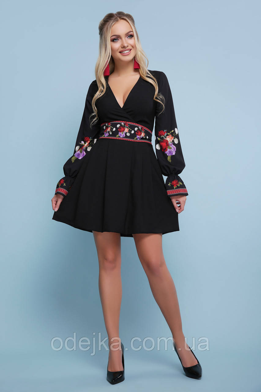 Платье Иванна розы д/р, (3цв), нарядное платье, дропшиппинг