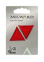 """Тканевые нашивки на одежду """"Ромбы""""(2шт) Milward 2,5см Красный"""