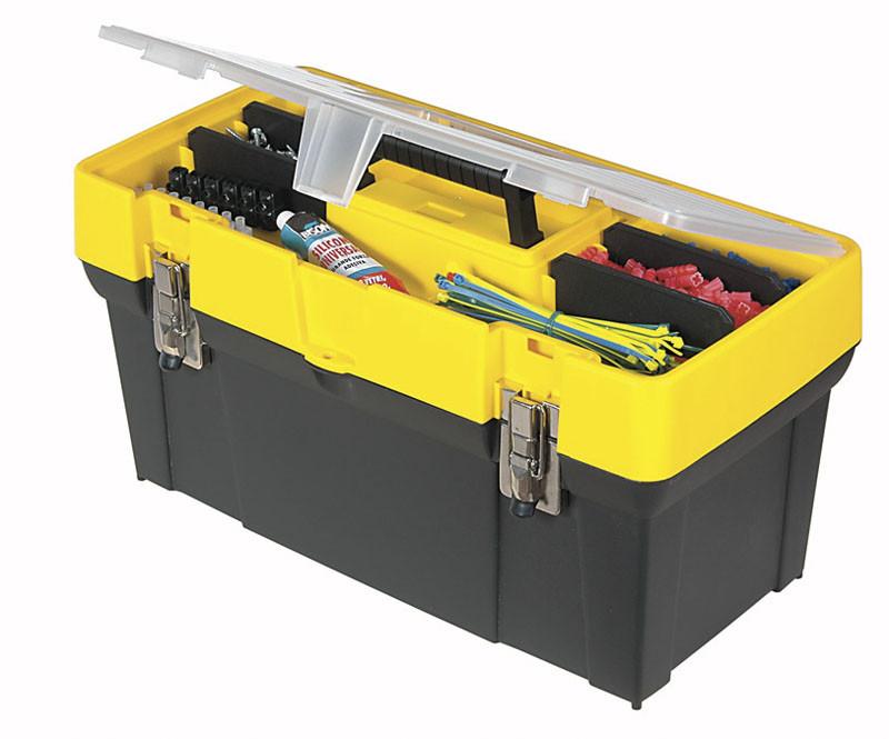 Ящик инструментальный 49см металич замок, кассетница  STANLEY 1-93-285
