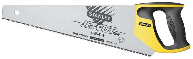 """Ножовка по дереву 450мм 11TPI """"Jet-Cut Fine"""" закаленный 3-гранный зуб    STANLEY 2-15-595"""