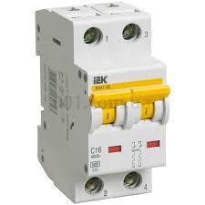Автоматический выключатель ВА47-60 2P 10A 6кА х-ка C ИЭК