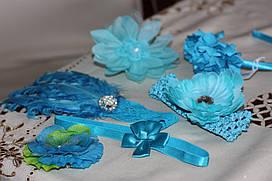 Аксесуари для волосся в голубій гамі