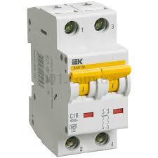 Автоматический выключатель ВА47-60 2P 16A 6кА х-ка C ИЭК