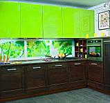 Салатовая и зеленая кухня на заказ. МДФ пленка, фото 2