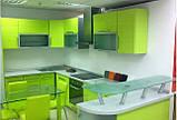 Салатовая и зеленая кухня на заказ. МДФ пленка, фото 3