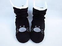 Тапочки «Коты» черно белые 40-41_склад