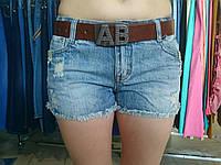 Шорты джинсовые модные под бренд АВ 26р, фото 1