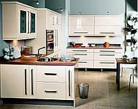 Белая глянцевая кухня на заказ.