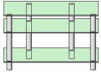 Система для ТВ аппаратуры - 14 (прозрачное стекло)