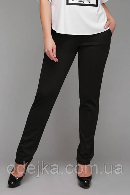 Брюки женские большого размера Черные Лампас, классические женские брюки, черные брюки женские, дропшиппинг