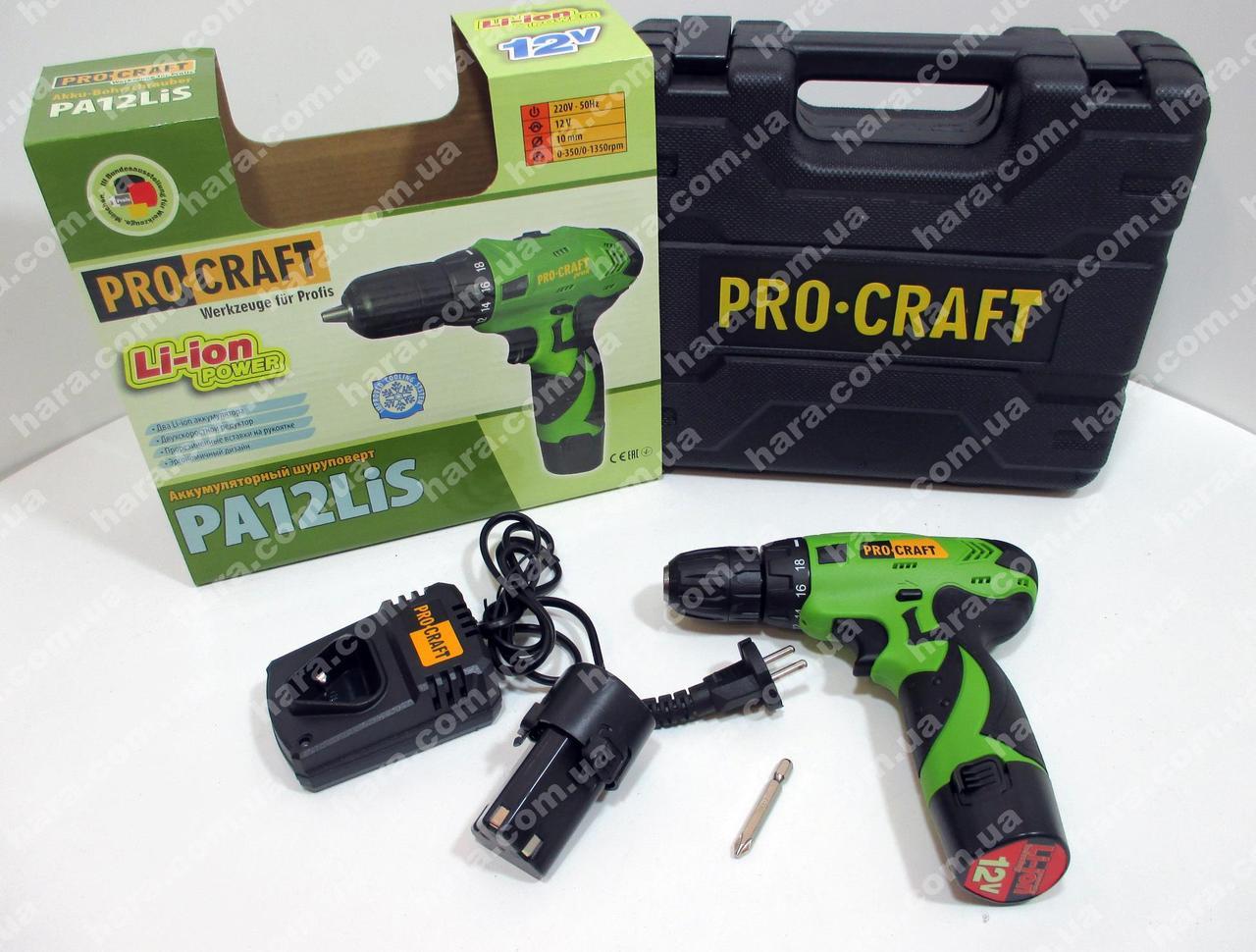 Шуруповерт Procraft PA12Lis