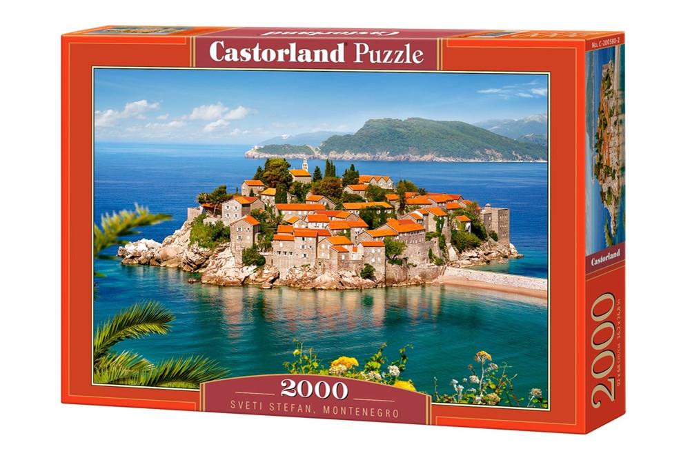 Пазл Castorland Sveti Stefan, Montenegro, 2000 эл.