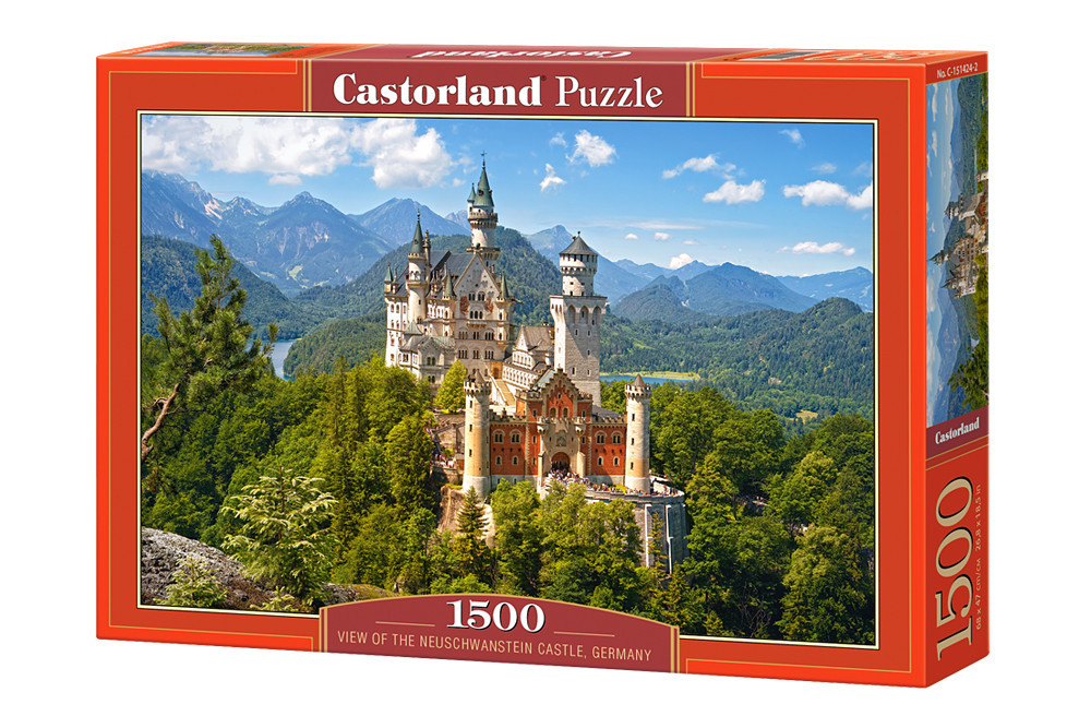 Пазл Castorland View of the Neuschwanstein Castle, Germany, 1500 эл.