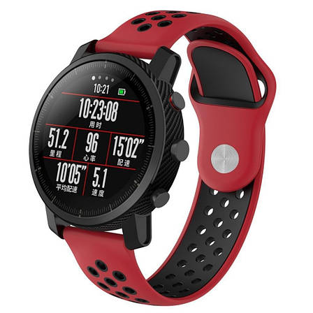 Ремешок BeWatch sport-style для Xiaomi Amazfit Stratos / Pace Red-Black (1020131.2), фото 2