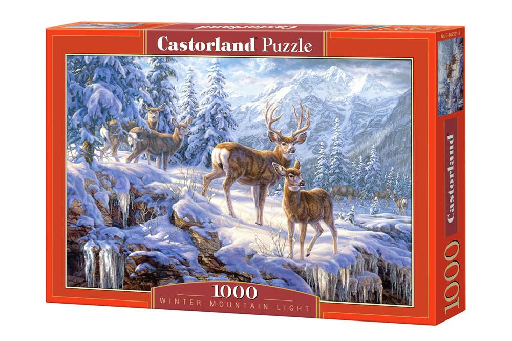 Пазл Castorland Winter mountain light, 1000 эл.
