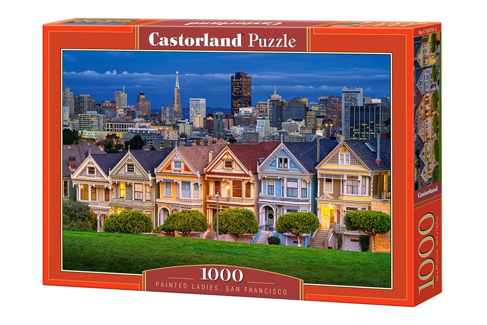 Пазл Castorland Painted Ladies, San Francisco, 1000 эл.
