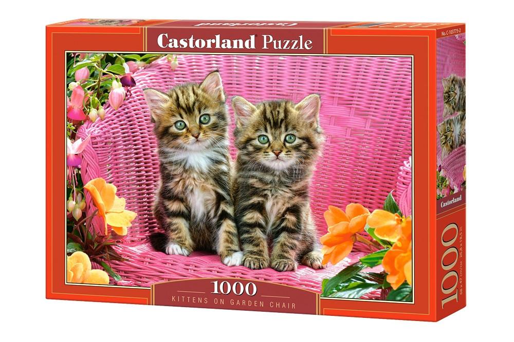 Пазл Castorland Kittens on Garden Chair, 1000 эл.