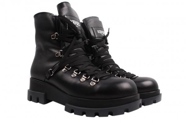 Ботинки Aquamarin натуральная кожа, цвет черный