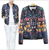 Летняя куртка, цветочный принт