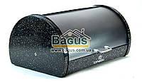 Хлебница из нержавейки 38см (цвет - черный) с пластиковой крышкой Edenberg EB-104-2