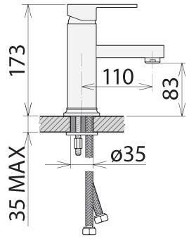 Смеситель для раковины Welle Christian VM16X48D, фото 2