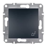 Кнопка «Звонок» самозажимные контакты   ASFORA Schneider Electric Антрацит