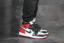 Мужские модные кроссовки  Nike Air Jordan 1 Retro High OG ,черные с белым и красным, фото 2