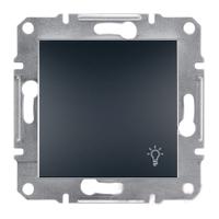 Кнопка «Свет» самозажимные контакты   ASFORA Schneider Electric Антрацит