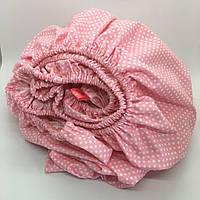Простинь на резинці в дитяче ліжечко 60х120+20 см., фото 1