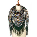 Подарок с ярмарки 1858-9, павлопосадский платок шерстяной  с шелковой бахромой, фото 2