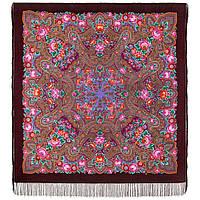 Подарок с ярмарки 1858-7, павлопосадский платок шерстяной  с шелковой бахромой, фото 1