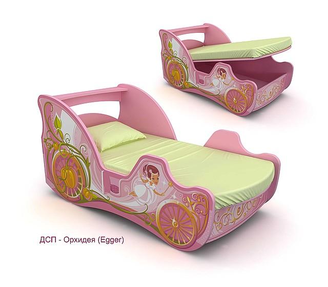 Кровать-карета Cinderella Cn-11-70 mp